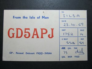 5627 Amateur Radio QSL Card Isle of Man