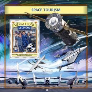 Z08 IMPERFORATED SRL161105b SIERRA LEONE 2016 Space tourism MNH ** Postfrisch