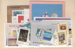 St. Lucia Scott 483-537,486a,490a Mint NH (1980 year set) - CV $57.75