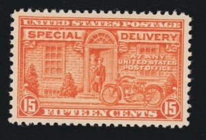 US E13 15c Special Delivery Mint XF OG NH SCV $75