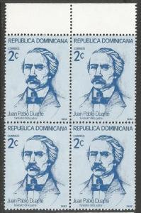 Dominican Republic 854 MNH BLOCK OF 4 [D1]