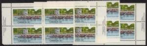 Canada - 1982 30c Royal Can. Henley Regatta Blocks mint #968