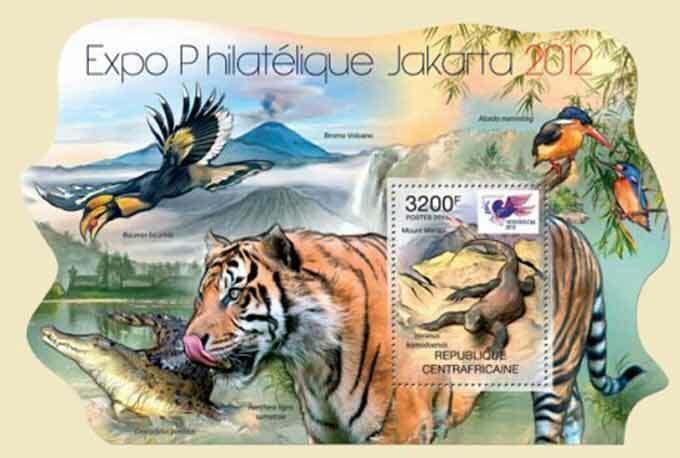 Central Africa MNH S/S Animals Birds Fauna 2012