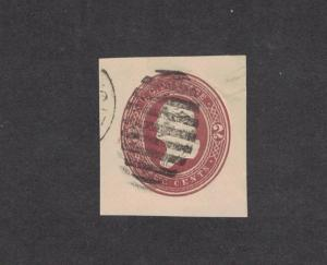 Scott U261 - Washington 2 Cent. Cut Square. Used.  #02 U261