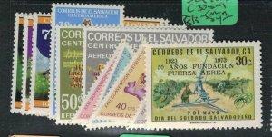 El Salvador SC 830-6, C308-9, 513-5 MNH (8ecq)