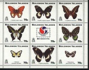 Butterflies MNH  by Solomon Is. Scott 777