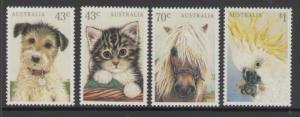AUSTRALIA SG1299/302 1991 DOMESTIC PETS MNH