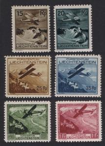 Liechtenstein Airmail 6v MH SG#110-115 SC#C1-C6 CV£170+