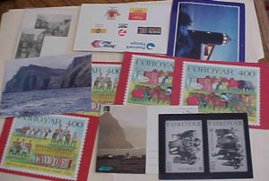 FAROE   14 DIFF. PICTURE CARDS MINT & PUBLICITY PHOTO OF 2 STAMPS