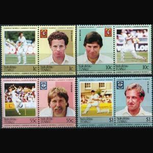 TUVALU-NUKUFETAU 1985 - Scott# 20-3 Cricket Set of 8 LH