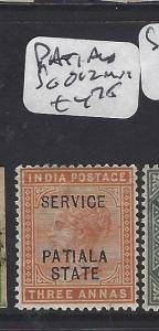 INDIA  PATIALA (P0311B)  QV   3A OFFICIAL  SG O12   MOG