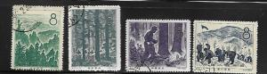 PRC  CHINA, 385-388, USED, REFORESTATION SET