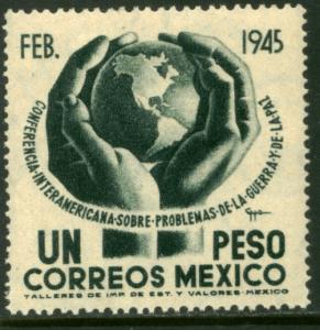MEXICO 793, $1P Conference on War & Peace. Unused, HINGED, OG. F-VF