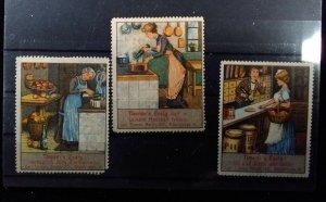 Cinderella Poster Stamp Reklamemarke-Timner's Vinegar Group of 3 --H20202708