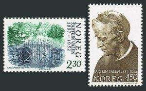 Norway 913-914,MNH.Michel 973-974. Fartein Valen,composer,1987.