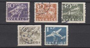J25633 JLstamps 1936 sweden part of set better used #249,256,258,260,262