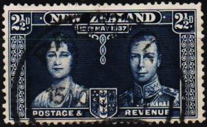 New Zealand. 1937 2 1/2d S.G.600 Fine Used