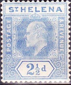 ST HELENA 1908KEDVII 2.5dBlue SG64MH