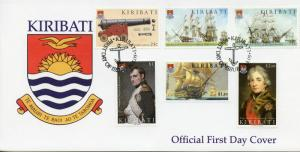 Kiribati Battle of Trafalgar Stamps 2005 FDC Ships Napoleon Nelson 6v Set I
