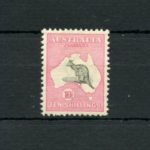 AUSTRALIA KANGAROO  SCOTT#13, SG#14   MINT LIGHT HINGED--SCOTT VALUE $1600.00