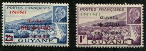 Fr L'Inini SC#B9-10 Petin - Vichy issue Semi-postal  MH