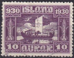Iceland #155 F-VF Used CV $18.00 (Z6464)