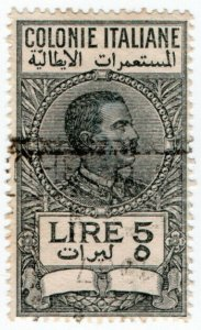 (I.B) Italy (Libya) Revenue : Duty Stamp 5L