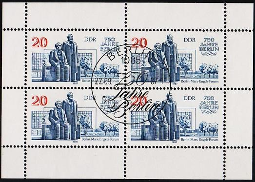 Germany(DDR). 1987 20pf Miniature Sheet. Part S.G.MSE2784 Fine Used