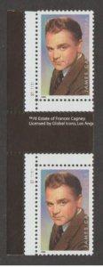 U.S. Scott #3329 James Cagney Stamps - Mint NH Horizontal Gutter Pair