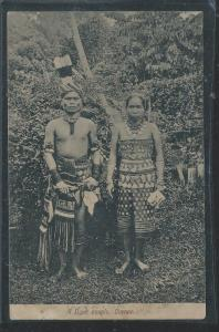 NORTH BORNEO (P2707B) DAYAK COUPLE PPC FUNK & SONS NO 57
