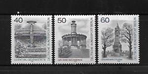 BERLIN, 9N457-9N459, MNH, LILIENTHAL MEMORIAL