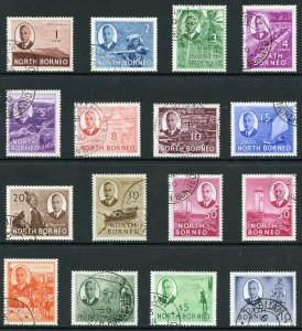 North Borneo SG356/70 1950  Set of 16 (both 50c) Fine Used