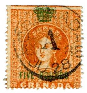 (I.B) Grenada Revenue : Duty Stamp £5 (Jeffryes Printing)