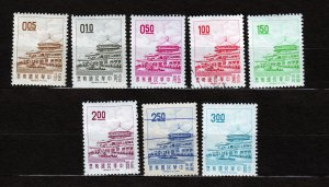 J23078 JLstamps 1968-75 taiwan china set mlh/2 used #1538-45