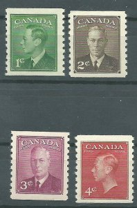 C  #297-300   Mint NH VF  1950 PD
