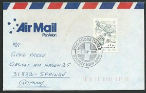 AUSTRALIA 1994 cover to Germany - nice franking - Sydney Pictorial pmk.....47137