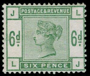 SG194, 6d dull green, M MINT. Cat £625. LJ