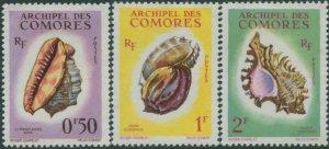 Comoro Islands 1962 SG23-25 Sea Shells MH