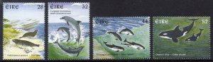 Ireland MNH 1049-52 Marine Mammals 1997 SCV 4.95