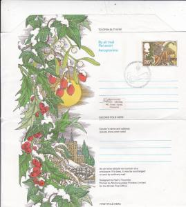 GB 1983 Christmas 26p Air letter First Day of Issue Bethlehem CDS VGC