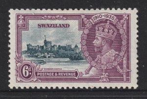 Swaziland a MH KGV Jubilee 6d see description & scans