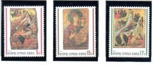 Cyprus Sc 772-74 1990  Christmas stamp set mint NH