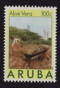 Aruba   #31  1988   MNH  aloe vera plant  100c