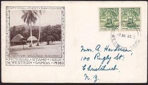 SAMOA 1935 ½d FDC ex Apia..................................................69701