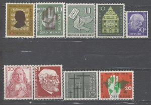 COLLECTION LOT # 4628 GERMANY 9 MH STAMPS 1956+ CV+$20