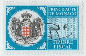Monaco France revenue fiscal stamp 5-9-21- scarce-