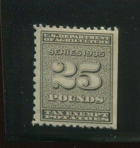 Scott RI17 Potato Tax Exempt Potatoes Revenue PO FRESH MINT NH Stamp (RI17-m5)