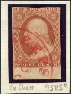 #10 VF USED W/ RED TOWN CANCEL POS.95R5e EX-CHASE CV $210.00 BP1307