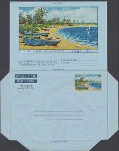 ANGUILLA 15c beach scene aerogramme unused.................................J754a