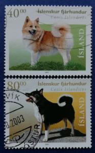 Iceland Icelandic Sheepdog Stamps Scott # 933-4 Used (I870)
